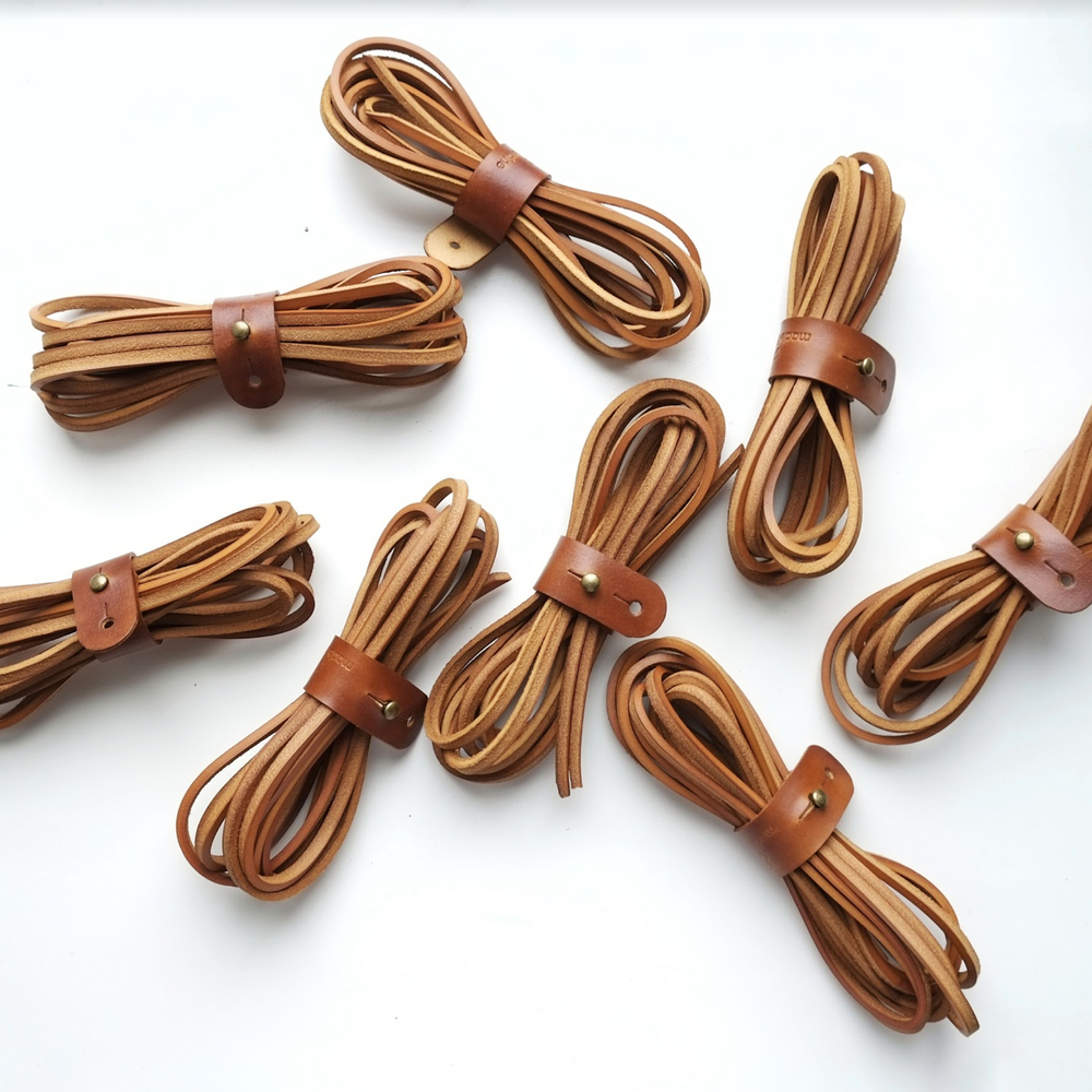 handmade brown laces