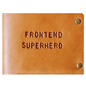 leather handmade slim wallet