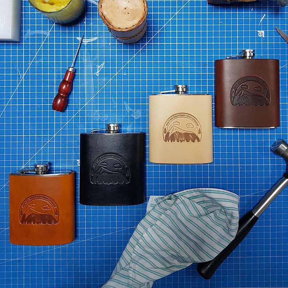 leather travel flask