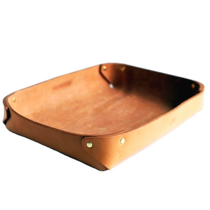 LARGE LEATHER VALET TRAY / NATURAL