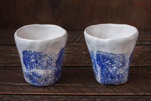 Load image into Gallery viewer, handmade clay ocean cups