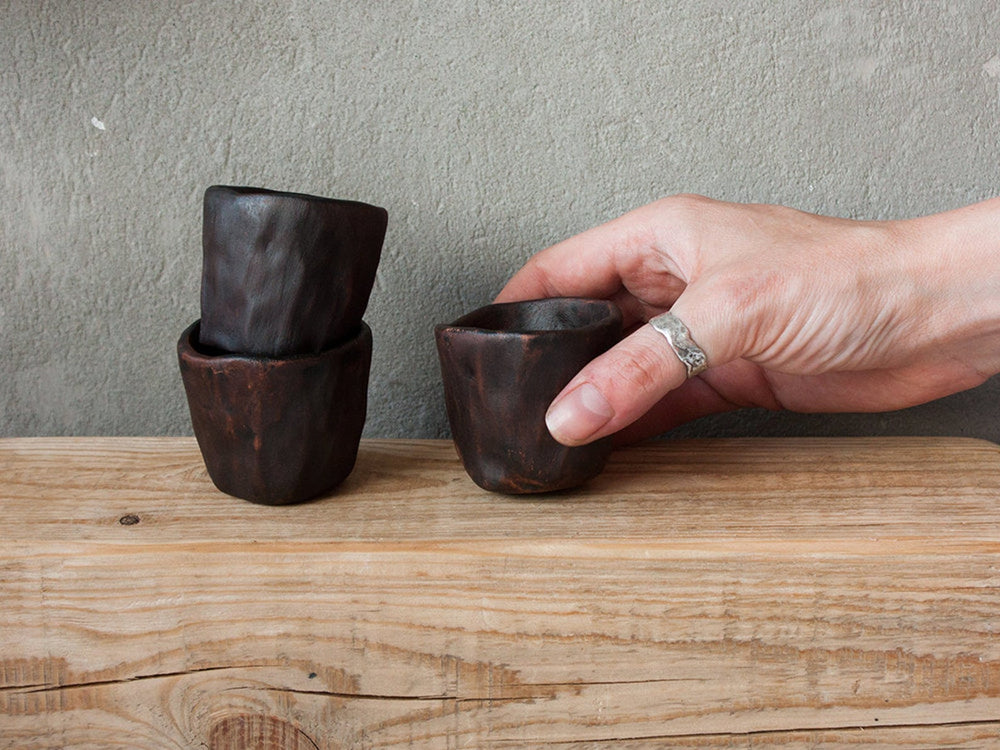 clay cup gift idea for groomsmen