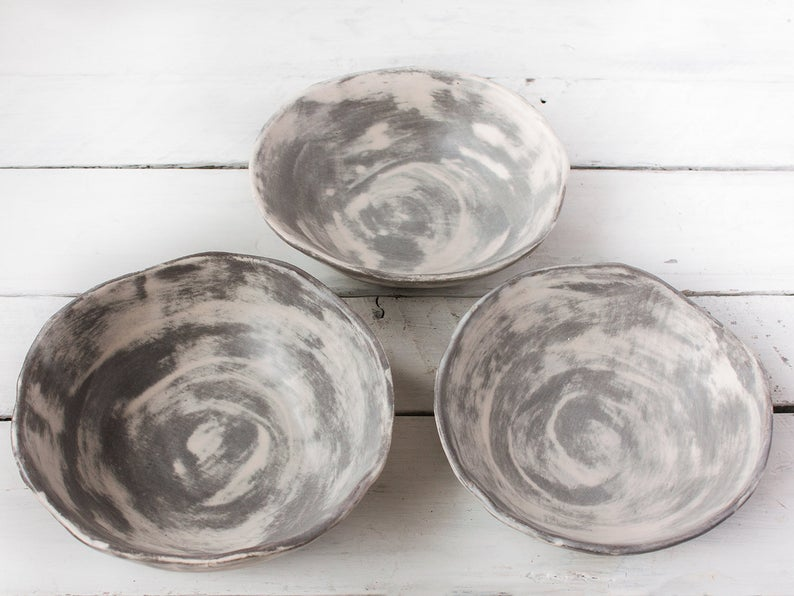 home decor gray bowl for fruits