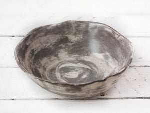 glazed serving dish