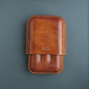 leather cigar case personalized