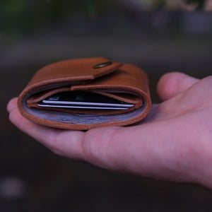 TRIFOLD WALLET  /  BROWN