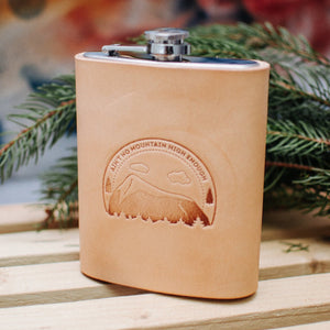 LEATHER TRAVEL FLASK - PERSONALIZED GIFT