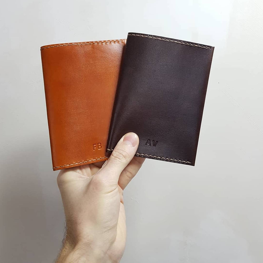 Load image into Gallery viewer, LEATHER PASSPORT COVER - TRAVEL COVER