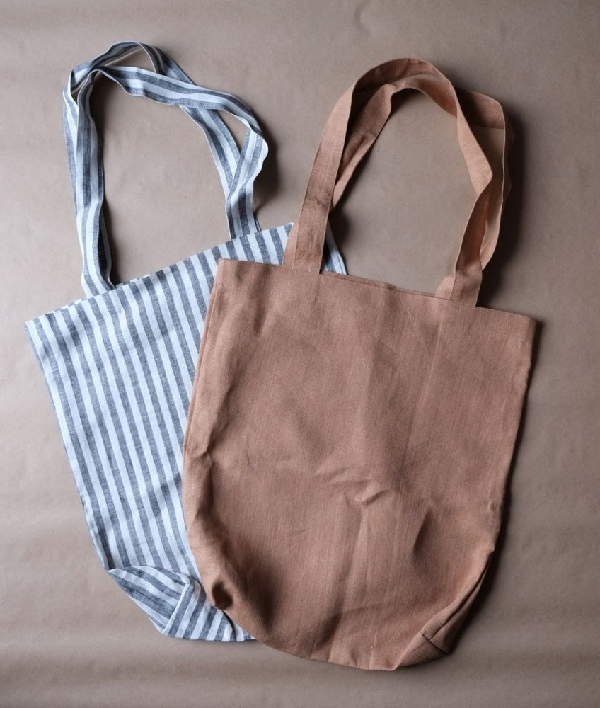 Load image into Gallery viewer, LINEN TOTE BAG