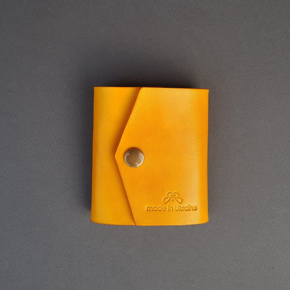 yellow wallet gift idea personalized