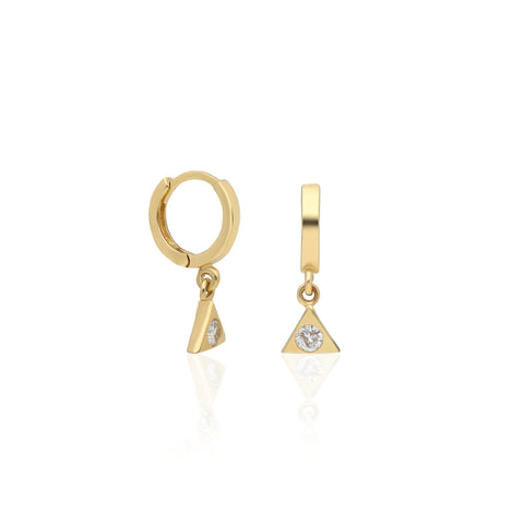 Triangle Drop Earring