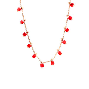 Coral Rollers Necklace