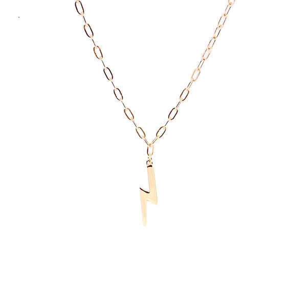 Drawn Chain Lightning Necklace