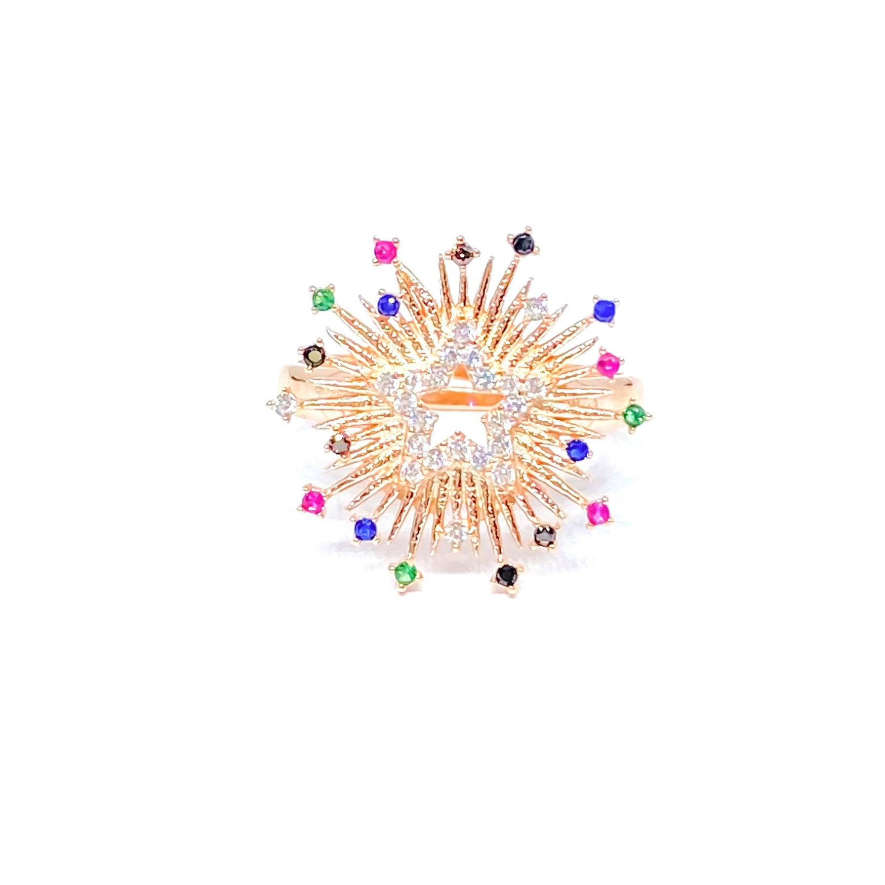 Multicolor Star Light Ring