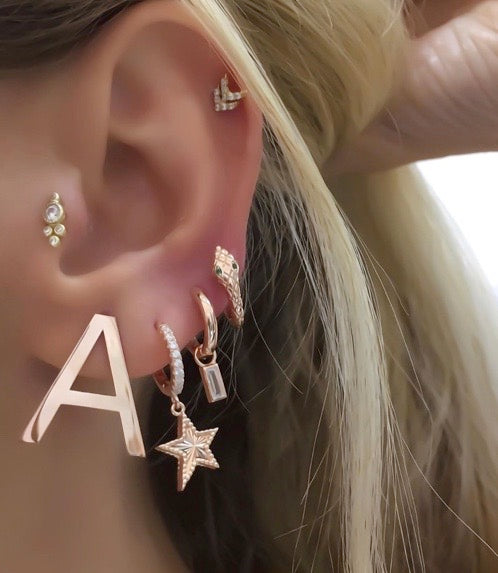 Customized Initial Stud Earring