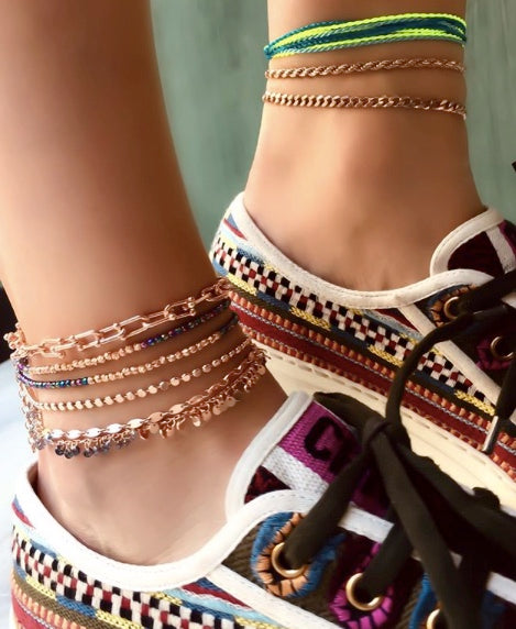 U Chain Anklet