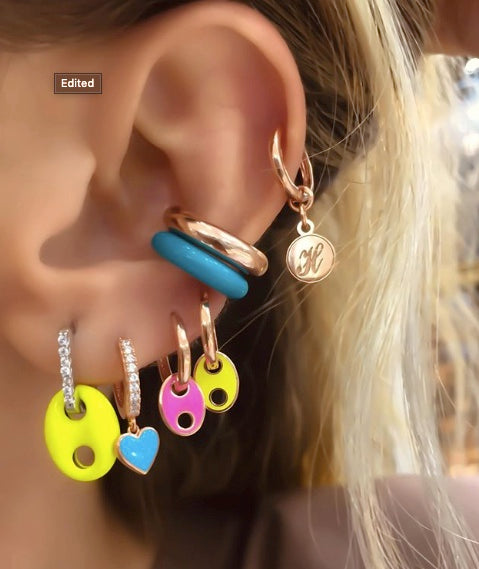 Customized Initial Drop Earring