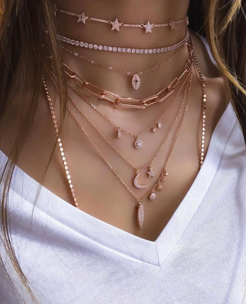 3 mm Gemstone Rose Tennis Choker