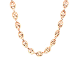 Oval Thick Chain Necklace Large