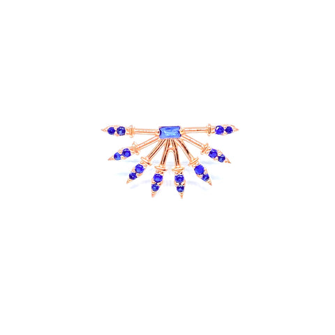Blue Gemstone Spike Earring