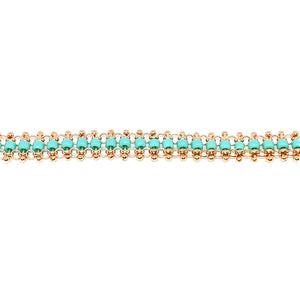 Turquoise Bead Braided Anklet