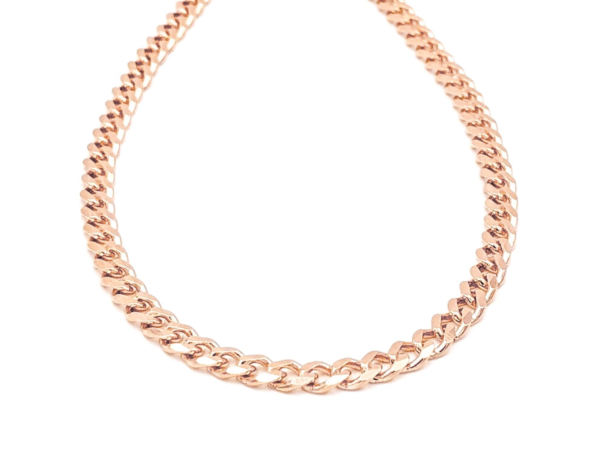 Curb Chain Necklace - 55 cm