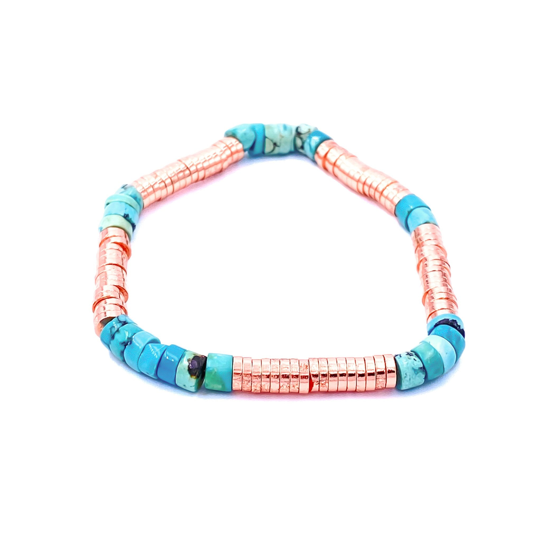 Disc Rollers Turquoise Bracelet
