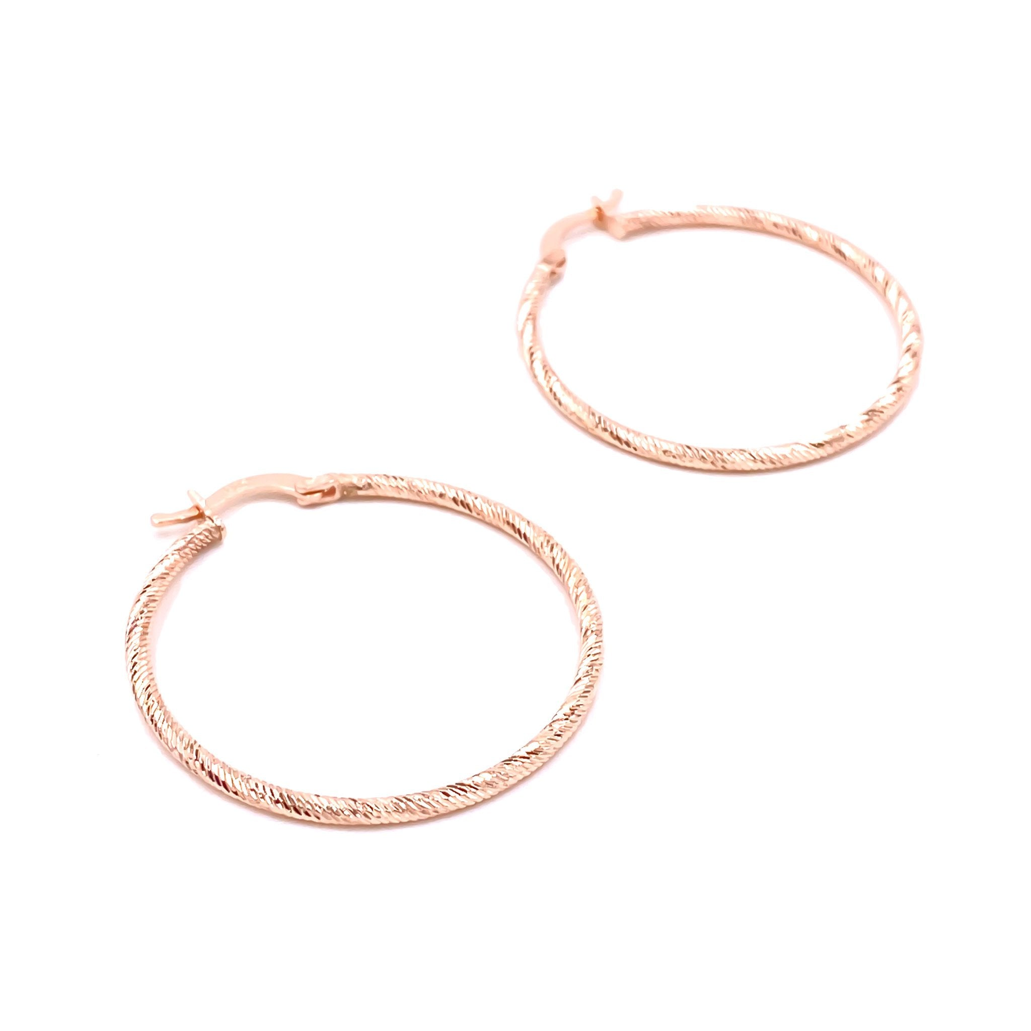 Italian Cut Hoop Earrings