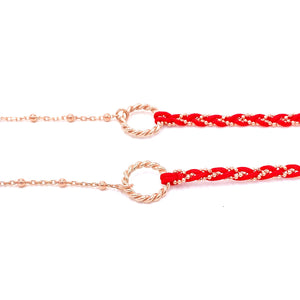 Red Double Rope Bracelet