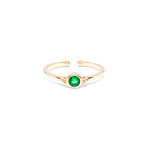 Colorful Gemstone Minimal Ring