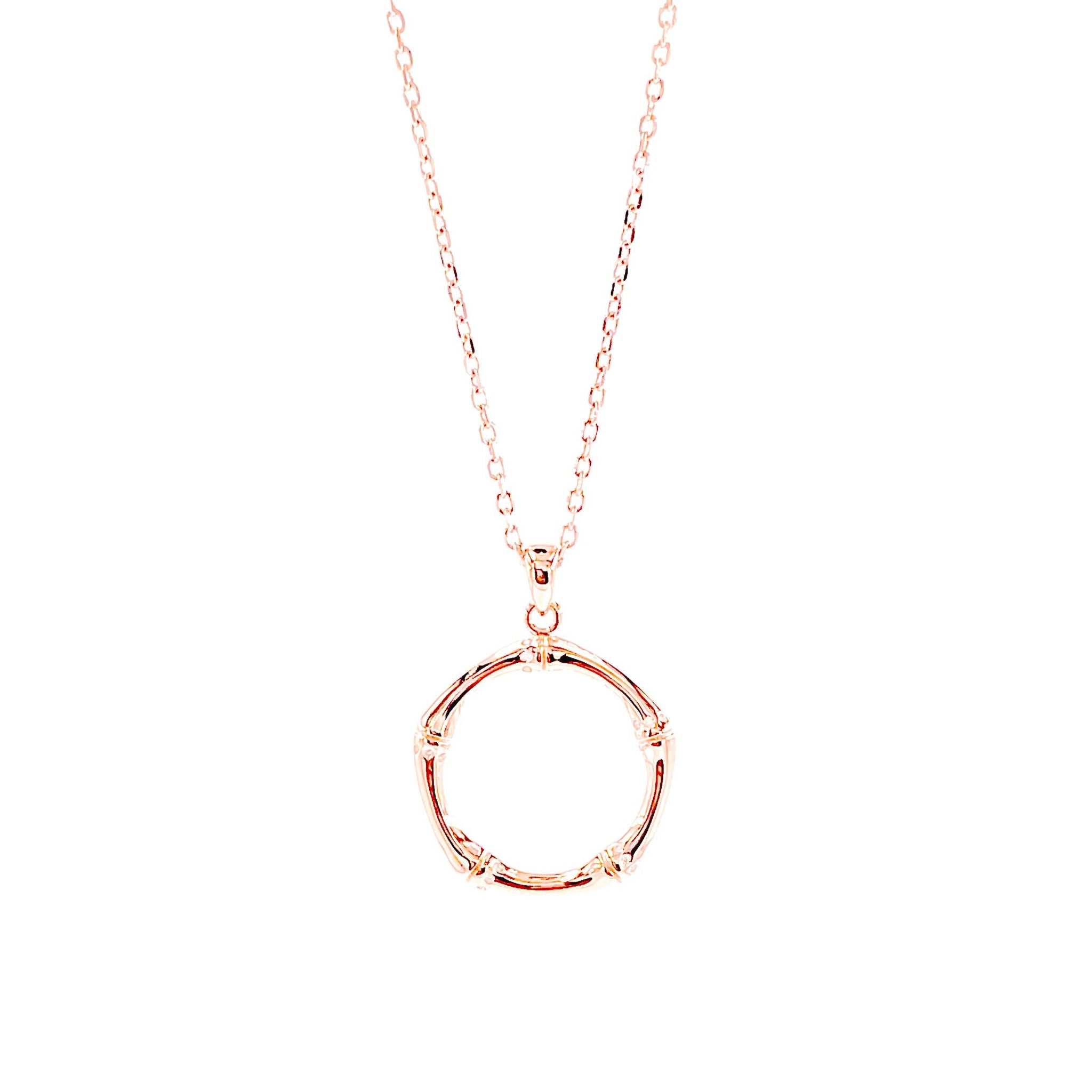 Circle Pendant Necklace - Italian Collection