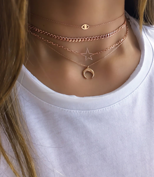 Laser Cut Eye Choker