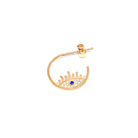 Blue Eye 1.5 cm Huggie Earring