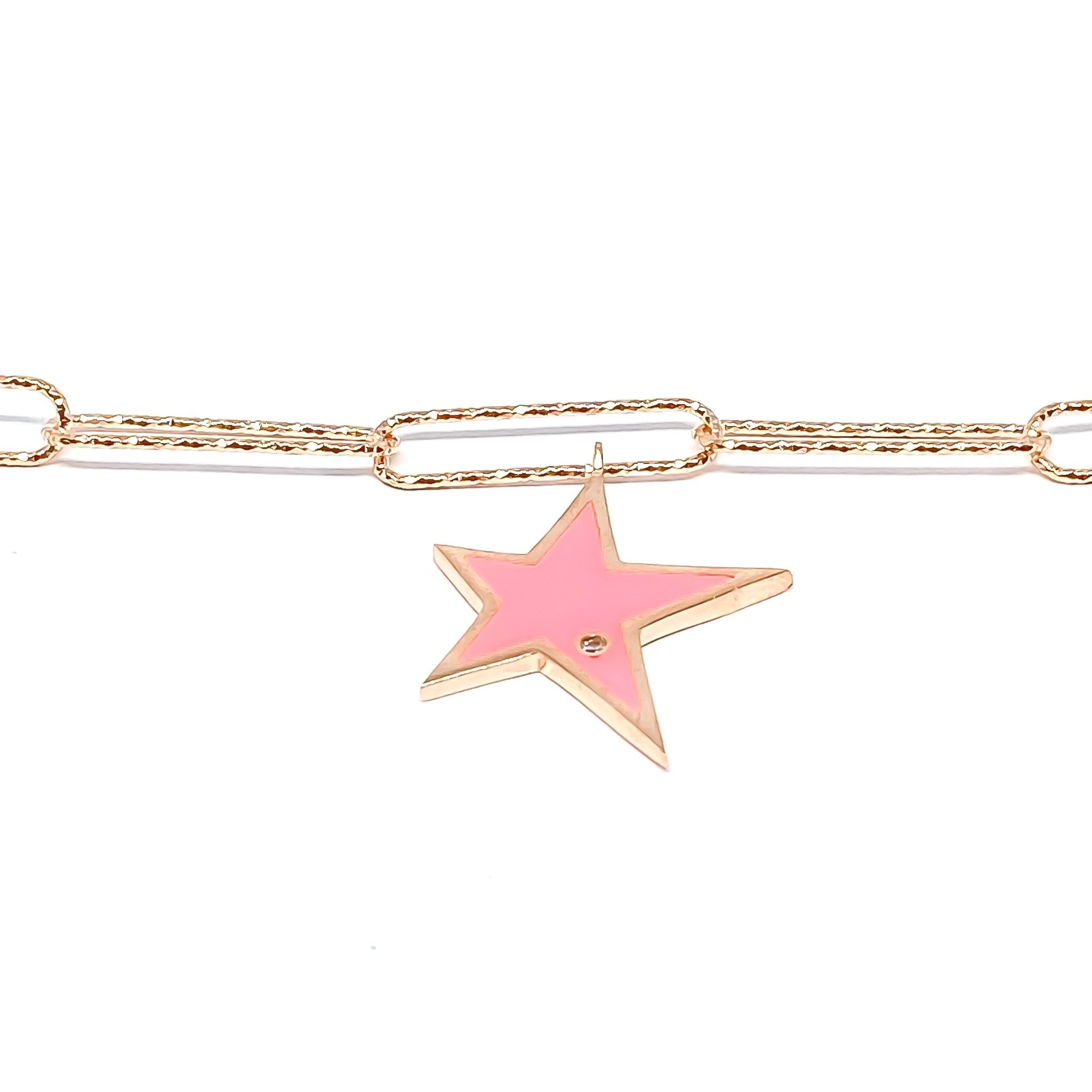 Pink Rock Star Anklet