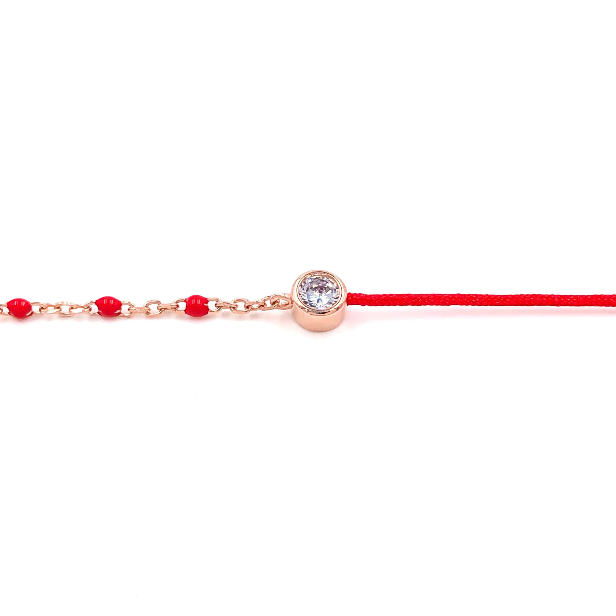 Red Rope Solitaire Bracelet