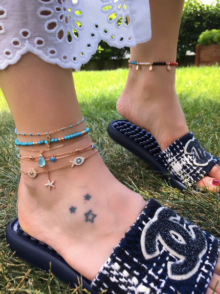 Fish Starfish Anklet