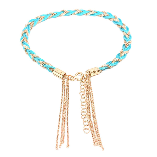 Colorful Braided Fringe Anklet