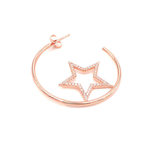 Star Big Hoop Earring