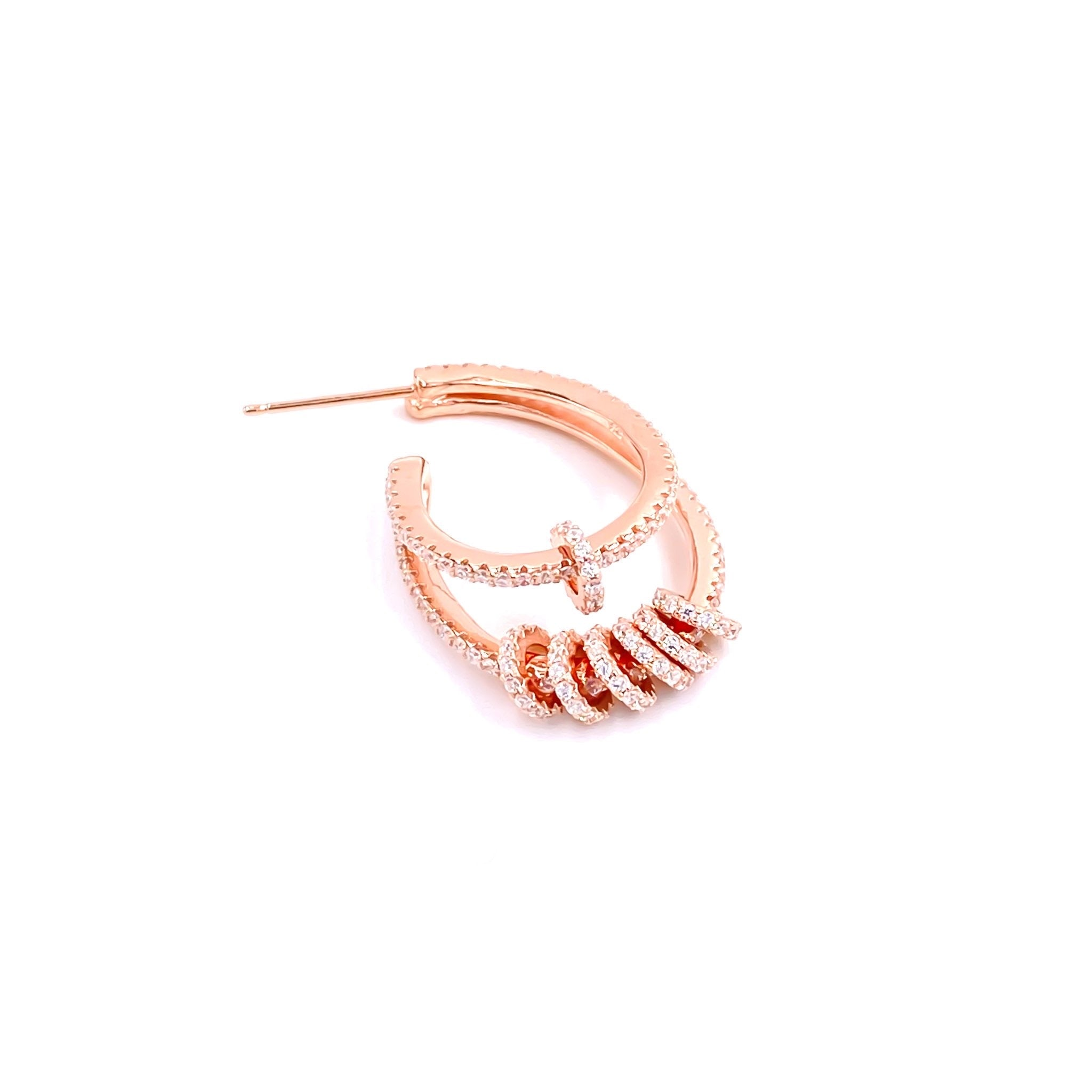 Oval Circle Huggie Earring