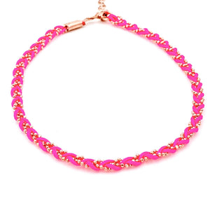 Fuschia Rope Anklet