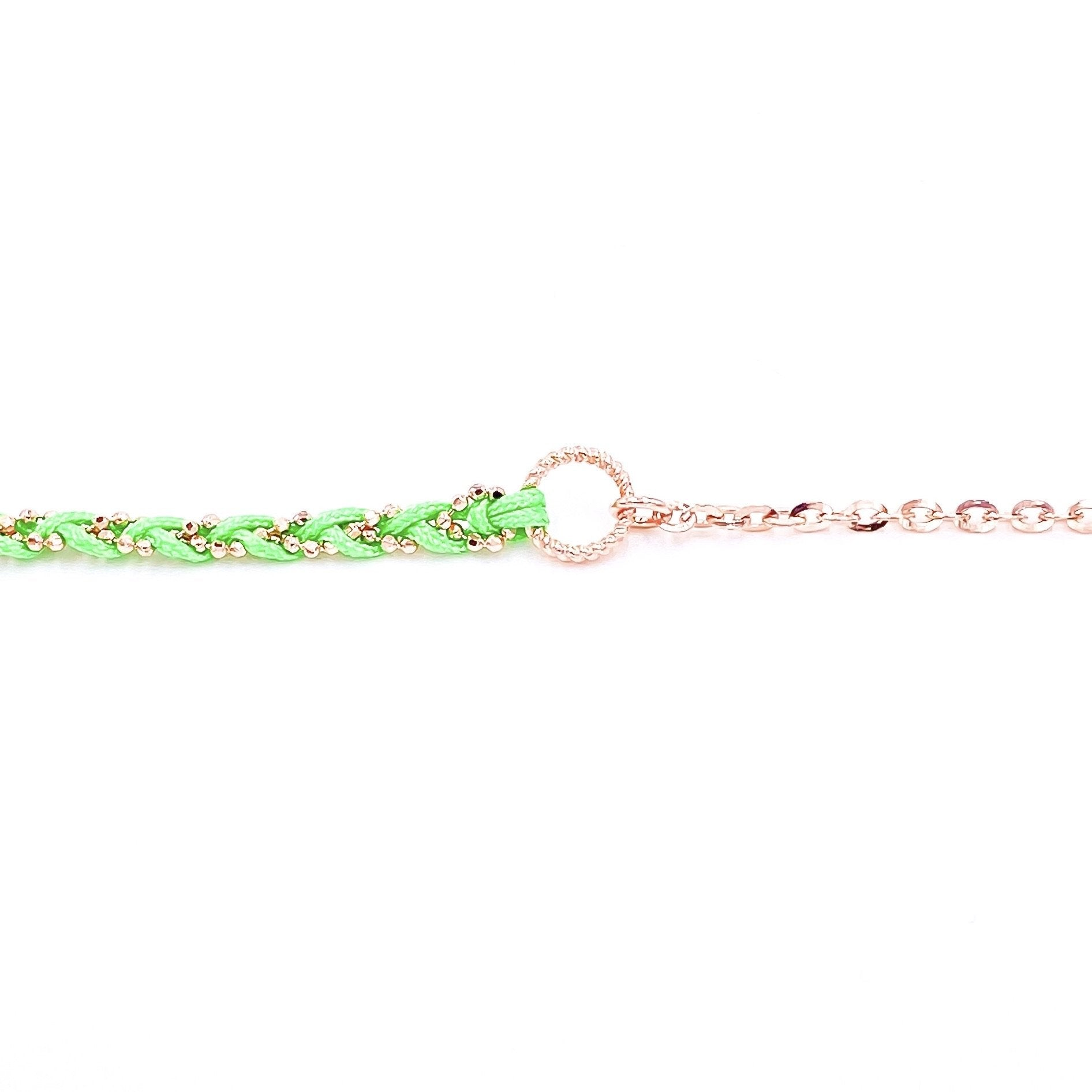 Sea Green Braided Chain Anklet
