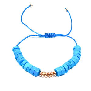 Turquoise Discs Anklet
