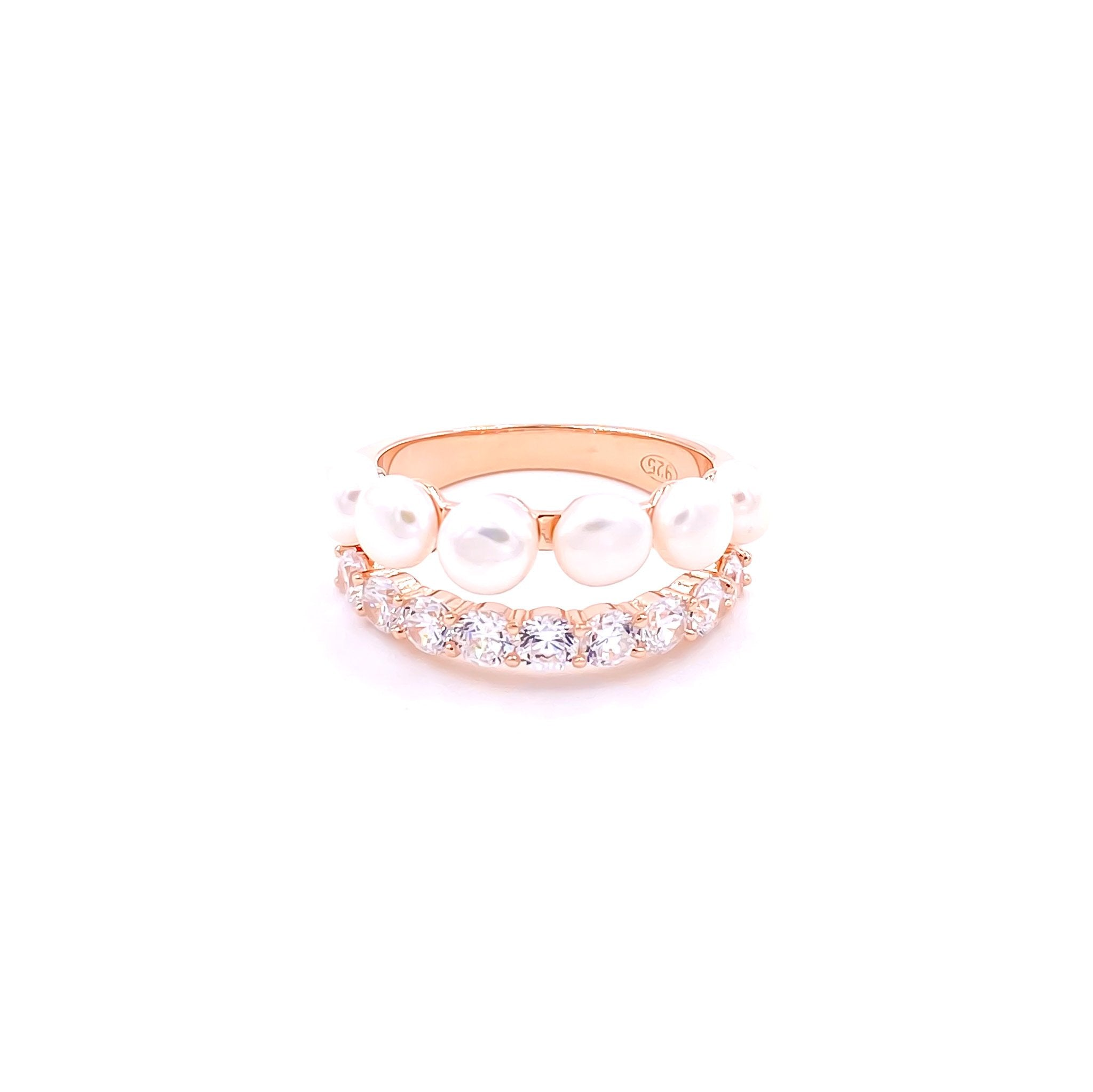Pearl Pave Set Ring