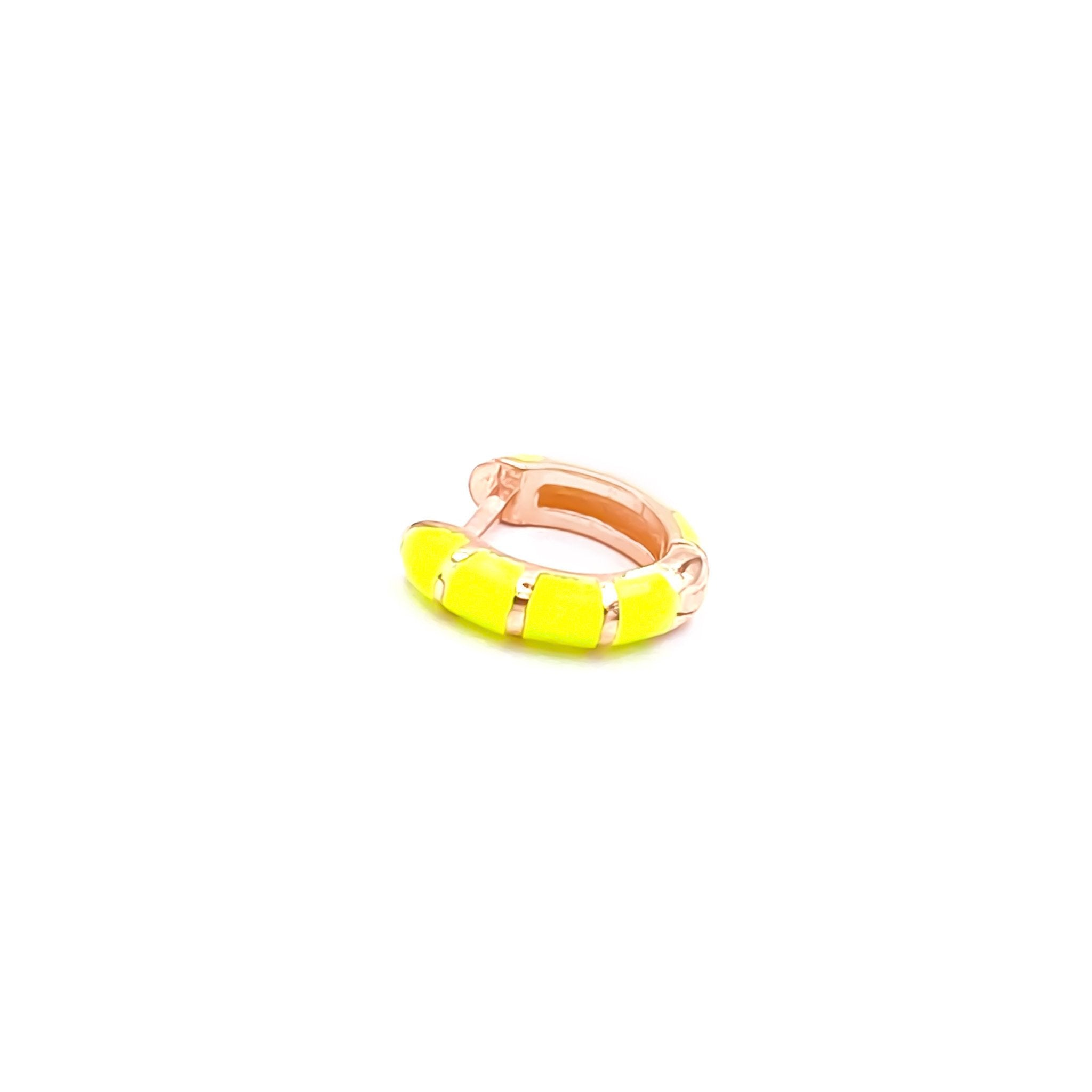 Neon Yellow Mini Huggie Earring