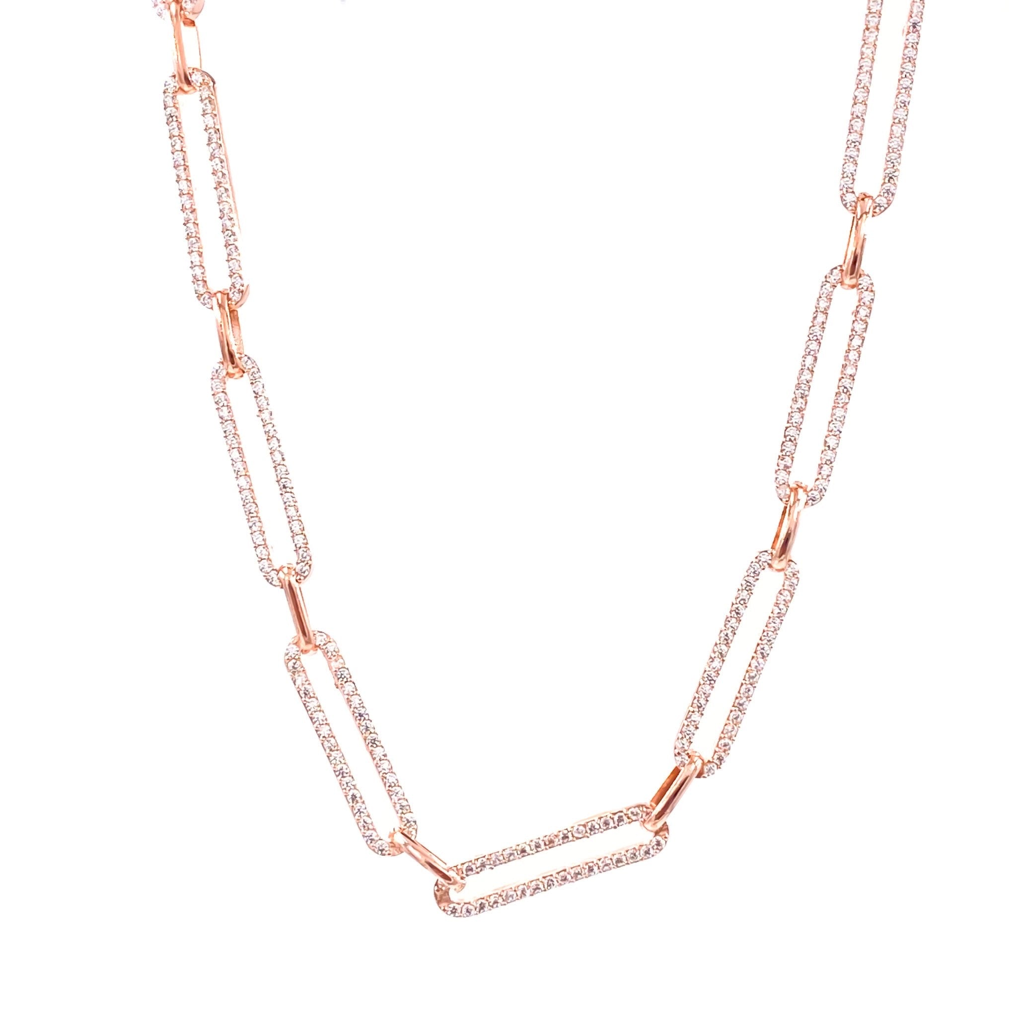 Gemstone Drawn Chain Necklace