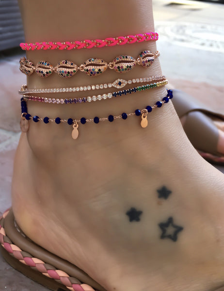 Colormix Seashell Anklet