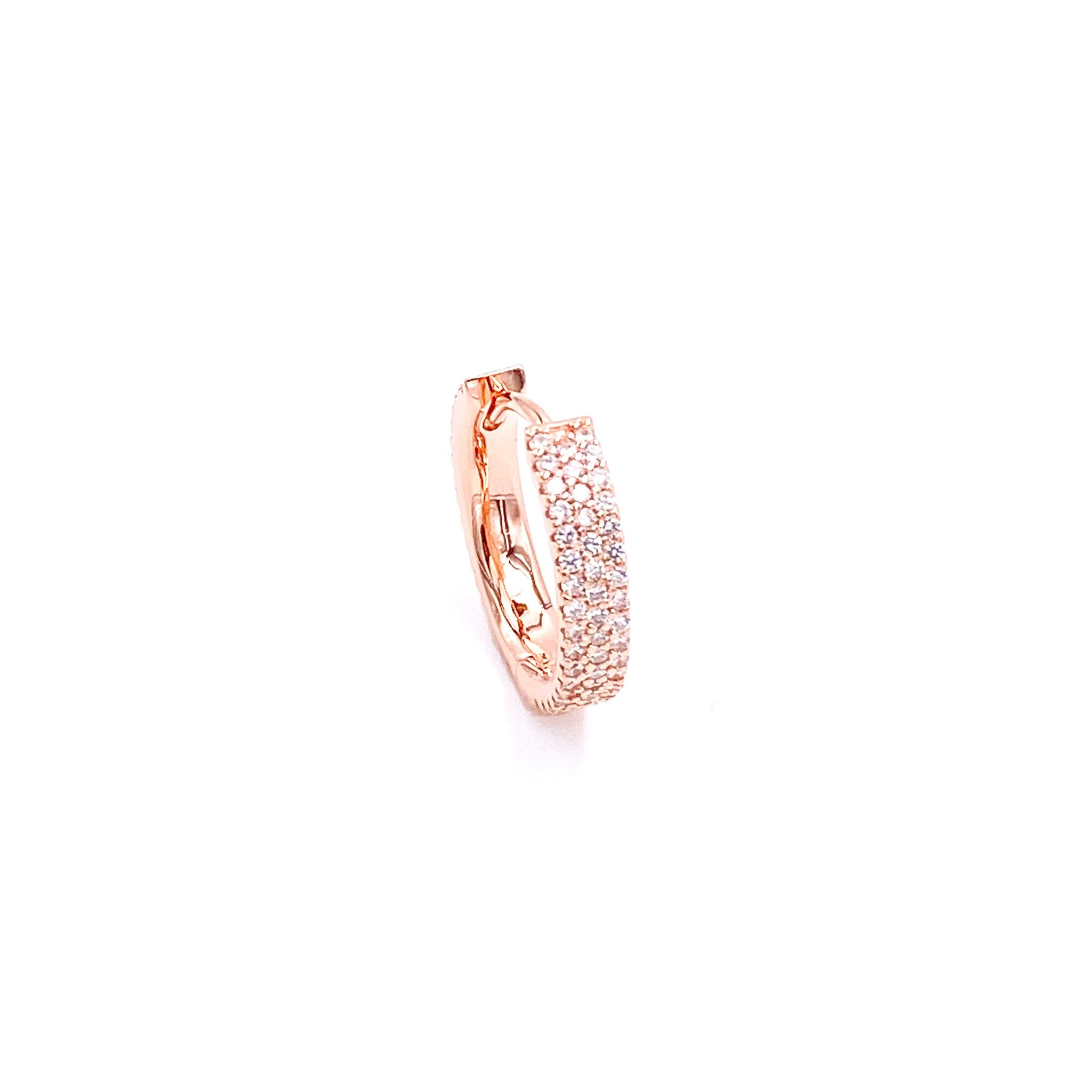 Clear Gemstone 1.5 cm Huggie Earring