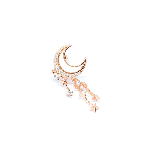 Moon Mother of Pearl Earring