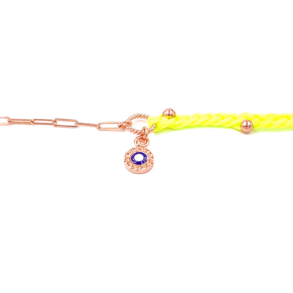 Neon Yellow Double Strand Anklet