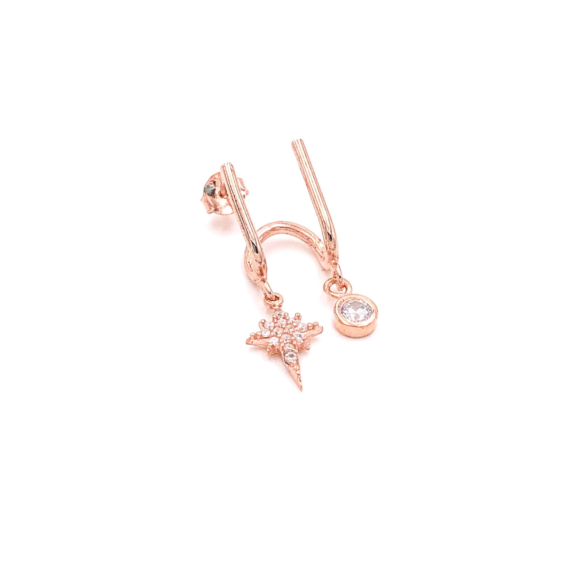 North Star Solitaire Double Earring